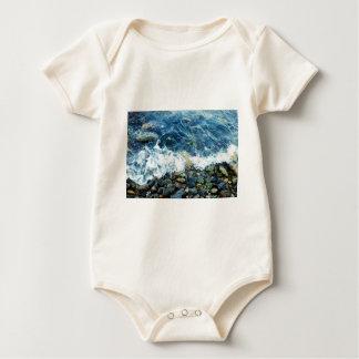 Rocky shoreline baby bodysuit