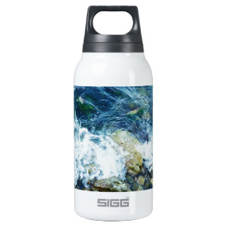 Rocky shoreline insulated water bottle