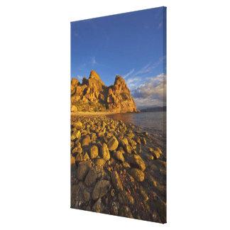 Rocky shoreline on Isla Carmen in the Gulf of Canvas Prints
