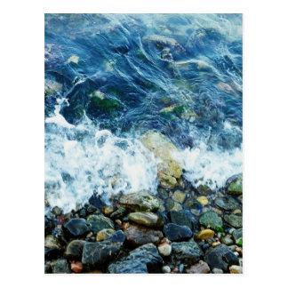 Rocky shoreline postcard
