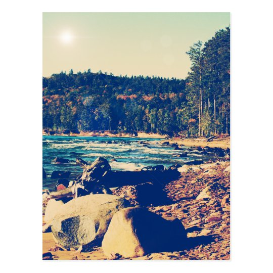 Rocky Shores of Lake Superior Postcard