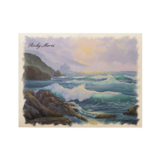 Rocky Shores Wood Poster