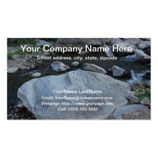 Rocky Stream Professional Business Card Template