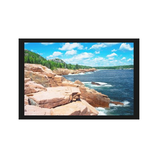 Rocky Summer Seascape Acadia National Park Maine Stretched Canvas Prints