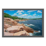 Rocky Summer Seascape Acadia National Park Maine Poster