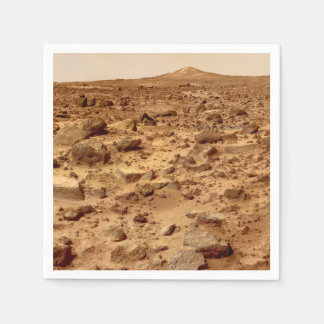 Rocky Surface of Planet Mars Disposable Napkin