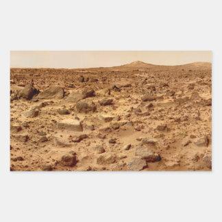 Rocky Surface of Planet Mars Rectangular Sticker