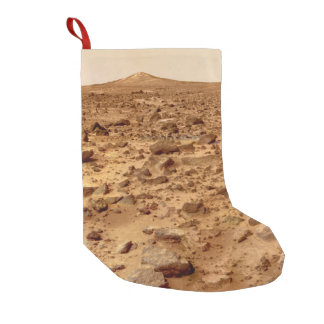 Rocky Surface of Planet Mars Small Christmas Stocking
