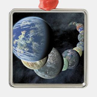 Rocky, terrestrial worlds christmas tree ornament