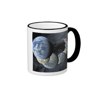Rocky terrestrial worlds coffee mugs
