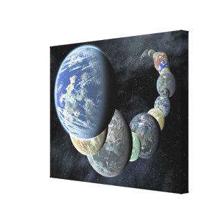 Rocky, terrestrial worlds gallery wrap canvas