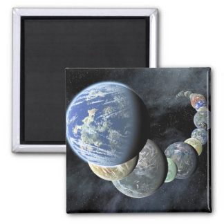 Rocky terrestrial worlds magnets