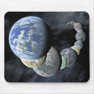Rocky, terrestrial worlds mouse pad