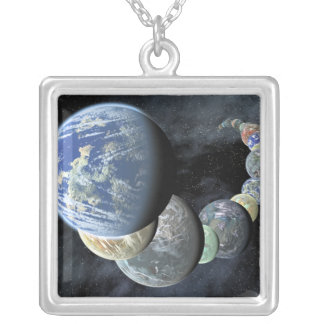 Rocky, terrestrial worlds pendants