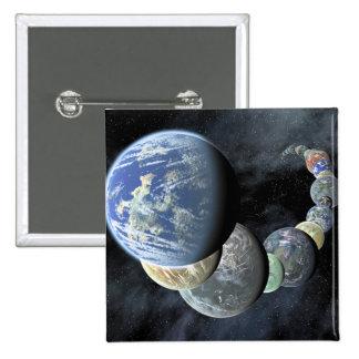 Rocky terrestrial worlds pinback button