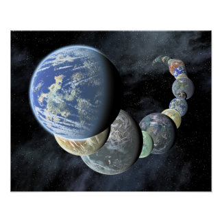 Rocky, terrestrial worlds poster