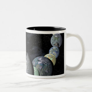 Rocky, terrestrial worlds Two-Tone mug