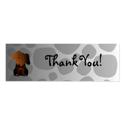 Rocky Thank You Card Business Card
