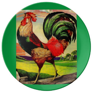 Rocky the Handsome Rooster Plate