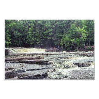 Rocky Waterfall Indiana Wabash River Rapids Art Photo