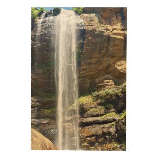 Rocky Waterfall Wood Wall Art