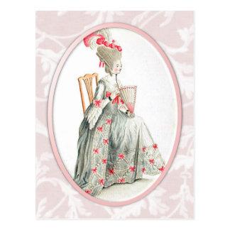 Rococco Lady Postcard