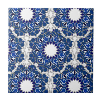 Rococo Indigo Beautiful Small Square Tile