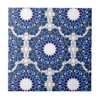Rococo Indigo Beautiful Small Square Tile