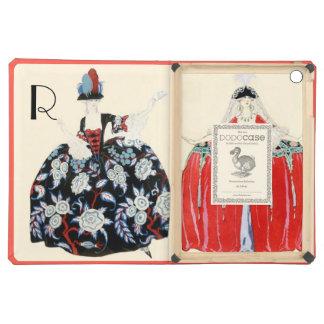 ROCOCO LADIES BEAUTY,FASHION COSTUME DECO MONOGRAM iPad AIR COVERS