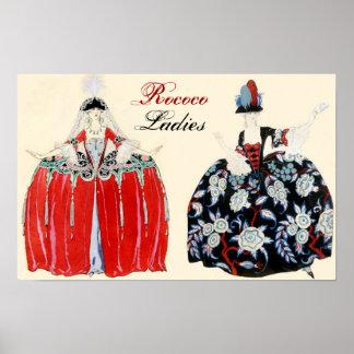 ROCOCO LADIES BEAUTY, FASHION COSTUME DESIGNER POSTER