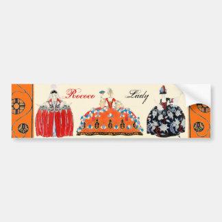 ROCOCO LADY ART DECO BEAUTY FASHION COSTUME DESIGN BUMPER STICKER
