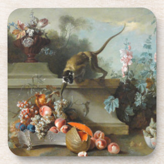 Rococo Painting for The Year of the Monkey Coasters