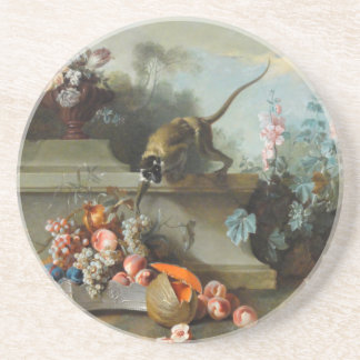 Rococo Painting for The Year of the Monkey Drink Coaster