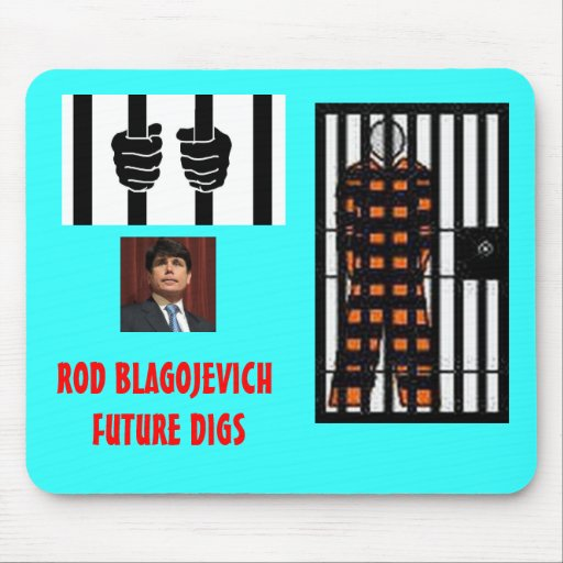 ROD BLAGOJEVICH - Behind bars Mouse Pad
