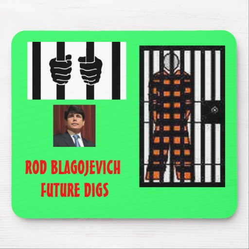 ROD BLAGOJEVICH - Behind bars Mousepads