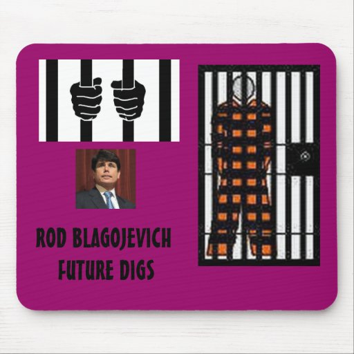 ROD BLAGOJEVICH - Behind bars Mousepad