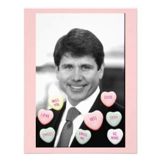 Rod Blagojevich Valentine's Day Invitations