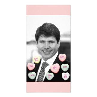 Rod Blagojevich Valentine's Day Custom Photo Card
