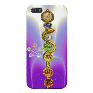 ROD OF ASCLEPIUS 7 CHAKRAS,YOGA ,SPIRITUAL ENERGY iPhone 5 CASE