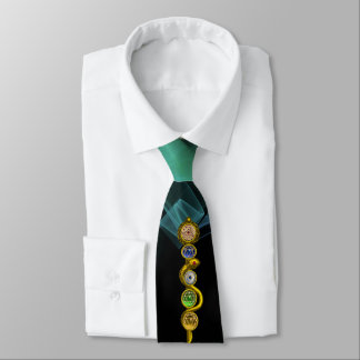 ROD OF ASCLEPIUS 7 CHAKRAS,YOGA ,SPIRITUAL ENERGY TIE