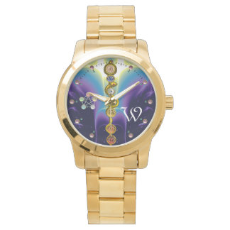 ROD OF ASCLEPIUS 7 CHAKRAS,YOGA ,SPIRITUAL ENERGY WRIST WATCH