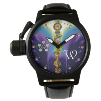 ROD OF ASCLEPIUS 7 CHAKRAS,YOGA ,SPIRITUAL ENERGY WRIST WATCHES