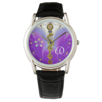 ROD OF ASCLEPIUS 7 CHAKRAS,YOGA ,SPIRITUAL ENERGY WRISTWATCH