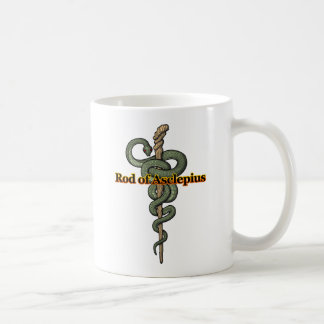 Rod of Asclepius Basic White Mug