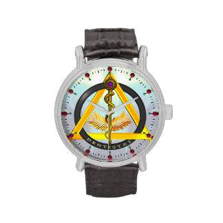ROD OF ASCLEPIUS DENTIST DENTISTRY SYMBOL,blue Wristwatch