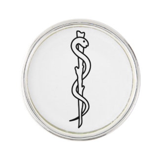 Rod of Asclepius Lapel Pin