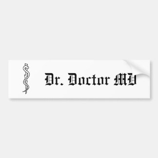Rod of Asclepius [medical symbol] Bumper Sticker