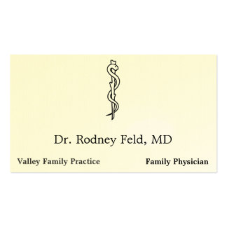 Rod of Asclepius [medical symbol] Business Card Templates