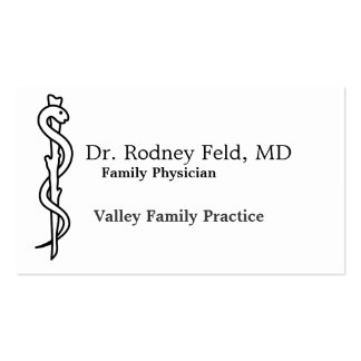 Rod of Asclepius [medical symbol] Business Cards