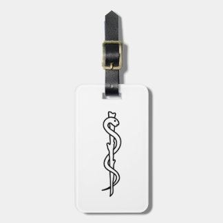 Rod of Asclepius [medical symbol] Luggage Tags